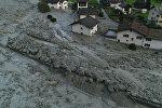Последствия оползня в деревне Бондо на швейцарско-итальянской границе