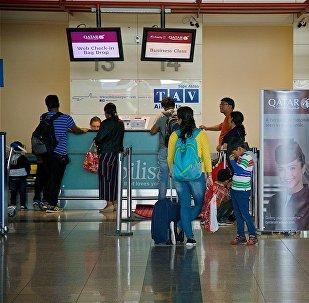 Зона регистрации на авиарейсы в Тбилисском аэропорту