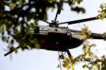 Вертолет Ми-8 пограничной службы МВД Грузии участвующий в тушении пожара в Боржоми-Харагаульском лесу