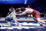 Финальный поединок Зураба Якобишвили и Магомедмурада Гаджиева из Польши. Грузинский борец одержал победу со счетом 3:1