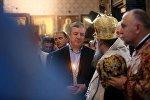 Премьер Грузии Георгий Квирикашвили на службе в соборе Сиони