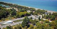 Вид на парк и приморский бульвар в Батуми