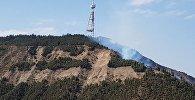 Пожар на горе Мтацминда в Тбилиси
