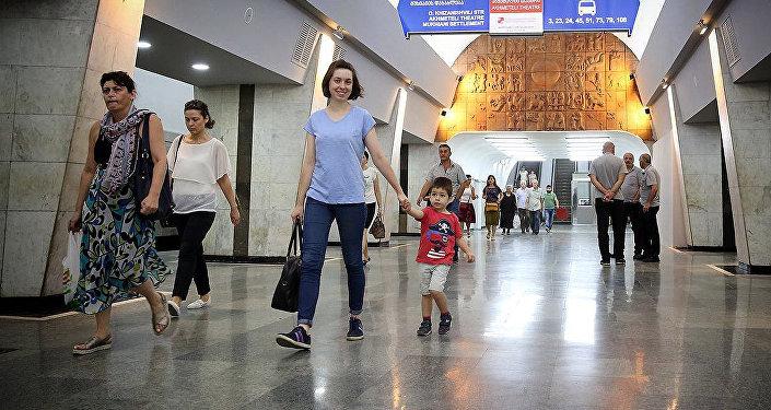 Станция тбилисского метро