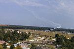 Крушение самолета в Подмосковье очевидец снял на видео