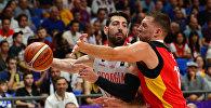 Сборная Грузии по баскетболу в матче против команды Германии