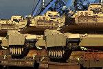 Американские танки, доставленные в Грузию на учения