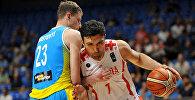 Матч между сборными Грузии и Украины по баскетболу