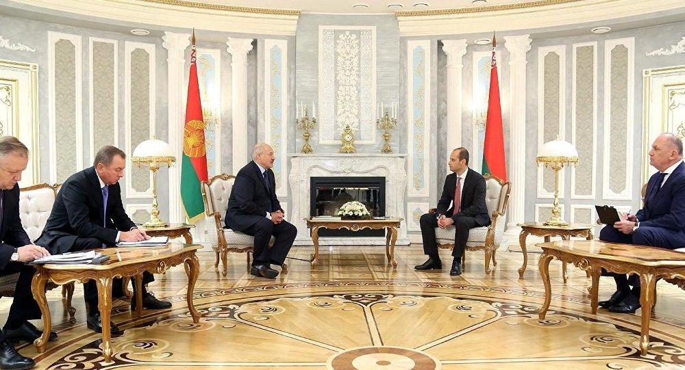 Встреча Александра Лукашенко и Михаила Джанелидзе