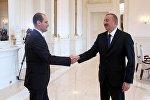 Глава МИД Грузии  Михаил Джанелидзе и президент Азербайджана Ильхам Алиев