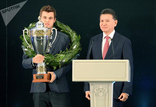 Шахматы. Матч за звание чемпиона мира. Церемония награждения