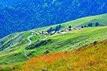 Высокогорное село в Тушети