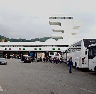 Пропускной пункт Сарпи на грузино-турецкой границе