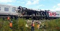Поезд и КАМАЗ столкнулись в ХМАО