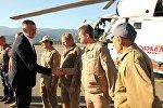 Глава правительства Аджарии Зураб Патарадзе поблагодарил пилотов турецкого вертолета за участие в тушении пожара