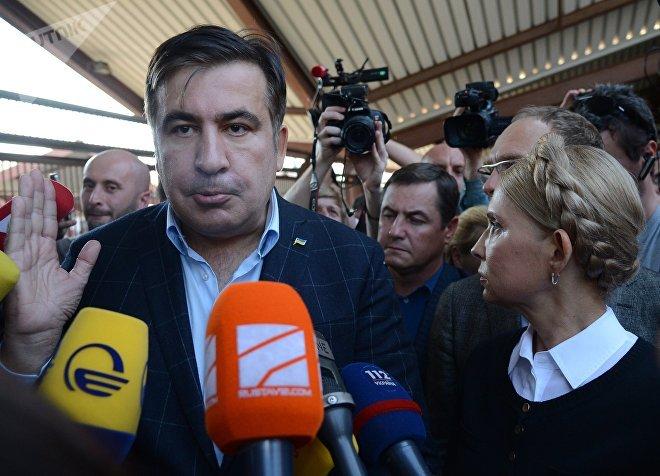 Михаил Саакашвили пытается въехать на Украину на поезде