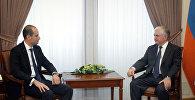 Главы МИД Грузии и Армении Михаил Джанелидзе и Эдвард Налбандян