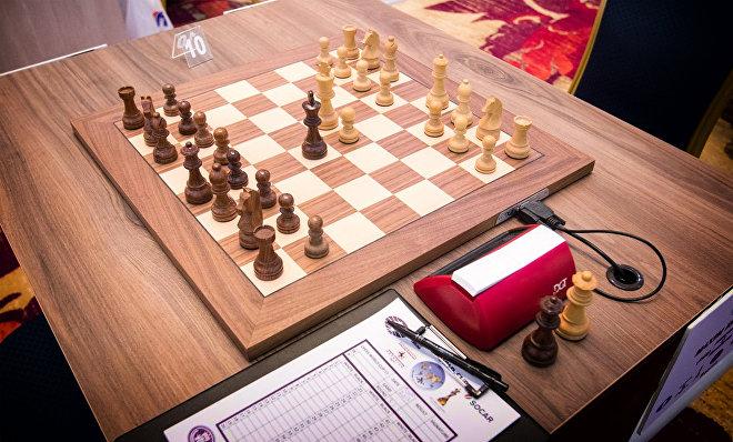 Шахматная доска, за которой должен был играть Антон Ковалев