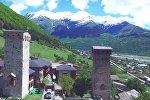 Знаменитые сванские башни в горах Грузии
