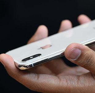 ახალი iPhone X უჩვენეს ახალი მედია-ღონისძიების დროს კომპანიის Apple ახალი ოფისში კუპერტინოში, კალიფორნია