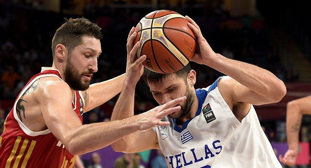 Баскетбол. Чемпионат Европы. Мужчины. Матч Греция - Россия