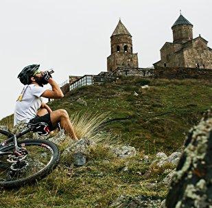 Экстремальные соревнования в Казбеги
