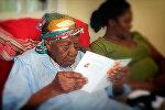 Жительница Ямайки Вайлет Мосс-Браун, которая считалась старейшим человеком на Земле. Фото было сделано в апреле 2017 года