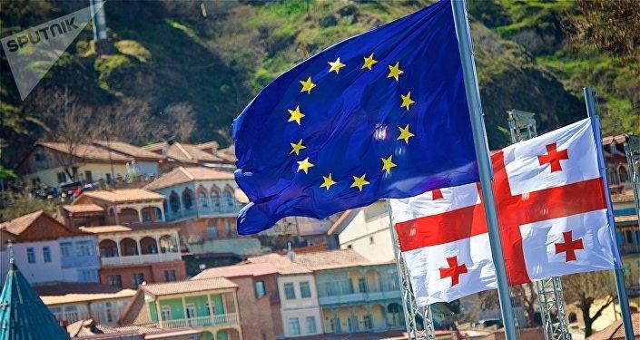 ევროკავშირის დროშები თბილისში