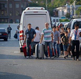 Туристы в столице Грузии