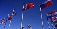 Флаги стран НАТО на территории учебного центра Грузия-НАТО JTEC на военной базе в Крцаниси