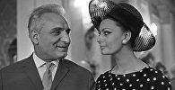 Призеры IV Московского кинофестиваля в 1965 году, итальянская киноактриса Софи Лорен и народный артист СССР Серго Александрович Закариадзе