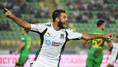 Полузащитник футбольного клуба Краснодар Торнике Окриашвили