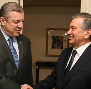 Георгий Квирикашвили и Шавкат Мирзиеев