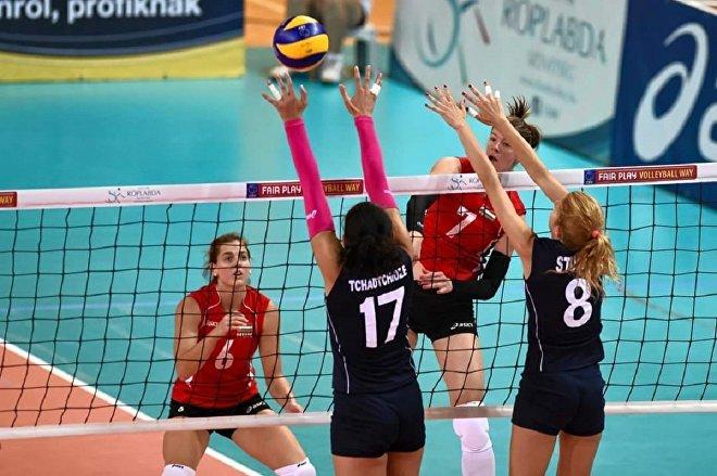 Волейболистки сборной Польши переиграли немок вматче чемпионата Европы