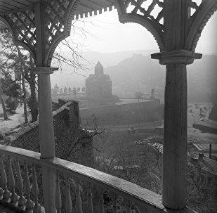 Вид на Старый город Тбилиси