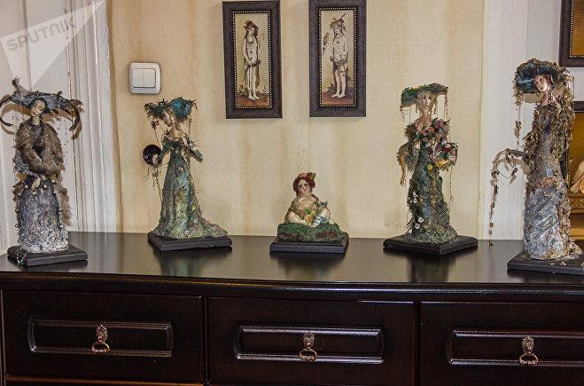 Куклы, созданные художницей Иреной Оганджановой