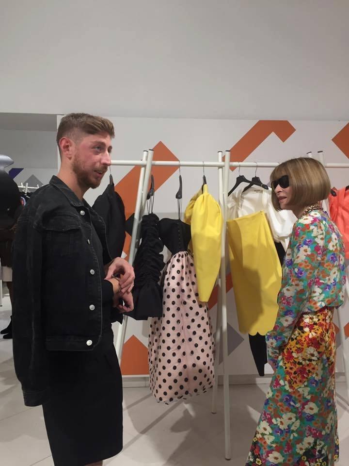 Грузинский дизайнер Георгий Кебурия и редактор Vogue Анна Винтур