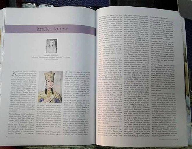 თურქულ ჟურნალში დაბეჭდილი თამარ ბერიძის სტატია თამარ მეფეზე