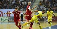 Сборная Грузии по футзалу в матче с командой Румынии
