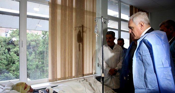 Глава МВД Грузии Георгий Мгебришвили навестил пострадавших пограничников
