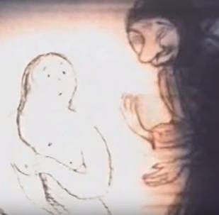 Кадр из анимационного фильма Нюркина Баня