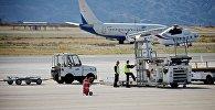 Взлетная полоса в тбилисском международном аэропорту