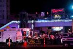 Медицинские работники на месте стрельбы в Лас Вегасе