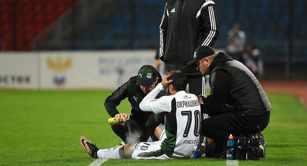 Полузащитник «Краснодара» Окриашвили после травмы вматче с«Арсеналом» пропустит полгода