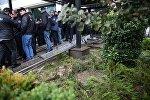 Ситуация у тбилисской мэрии после беспорядков