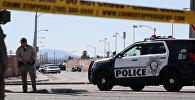 Полицейские работают на месте стрельбы в Лас Вегасе