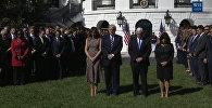 В память о жертвах стрельбы в Лас-Вегасе: Трамп на траурной церемонии