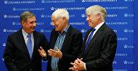 Лауреаты нобелевской премии Жак Дебуши, Йоахим Франк и Ричард Хенденсон