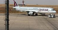 Самолет Катарских авиалиний