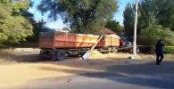 Видео с места аварии, где погиб Темир Джумакадыров